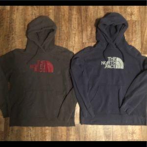 Lot of 2 northface hoodies men's xl